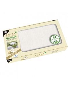 Manteles papel aspecto tela individuales color blanco Royal Collection Plus 80 x 80 cm