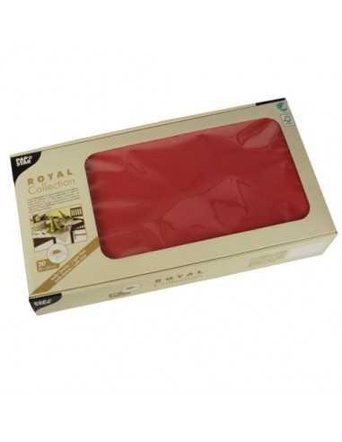 20 Manteles Papel Tisú Royal Collection Color Rojo 80 x 80cm