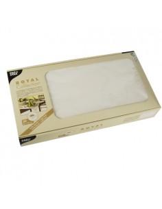 Manteles individuales de papel color blanco Royal Collection 80 x 80 cm