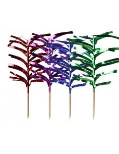 Palillos madera decorativos helado colores metalizados 12 cm