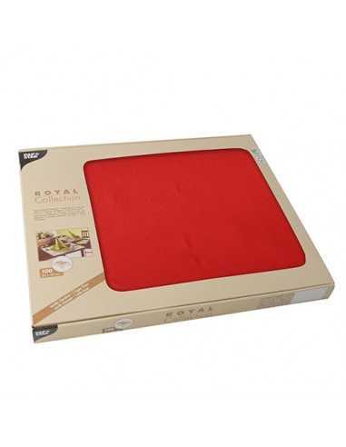 100 Mantelitos Individuales Royal Collection Color Rojo 30 x 40cm