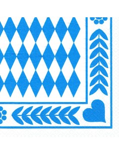 Servilletas de papel baviera azul oktoberfest 33 x 33 cm