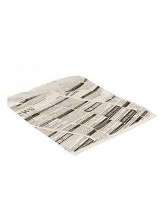 Bolsas para hamburguesas papel prensa antigrasa 16 x 18 cm Newsprint