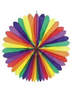 Rueda papel decoración verbenas abanico colores Ø 120 cm Rainbow