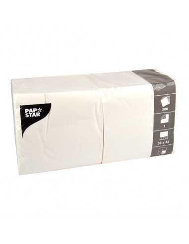 Servilletas de papel económicas blancas hostelería 33 x 33cm