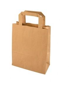 Bolsas con asa papel Kraft marrón 22 x 18 x 10 cm