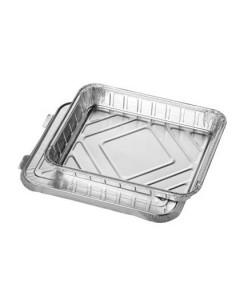 Bandejas aluminio con tapa en aluminio 930 ml