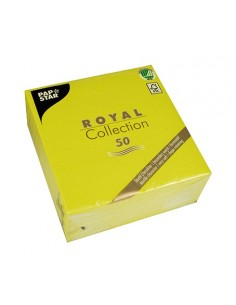 50 Servilletas Papel Tisú Royal Collection Verde Limón 33 x 33cm