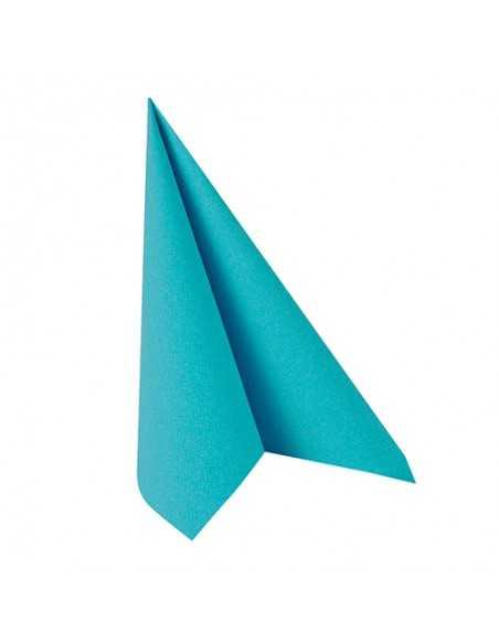 Servilletas de papel color azul turquesa 33 x 33 cm Royal Collection