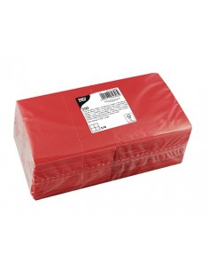 Servilletas de papel coctel en color rojo 24 x 24 cm