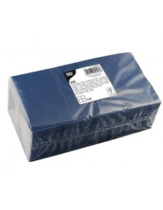 Servilletas de papel coctel en color azul oscuro 24 x 24 cm