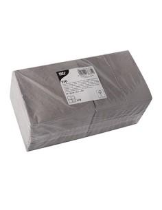 Servilletas de papel pequeñas cóctel color gris 24 x 24 cm