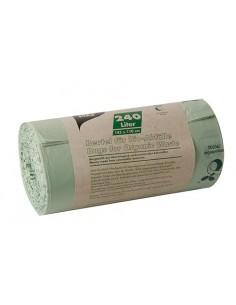 Sacos basura biodegradables color verde con asas 240l