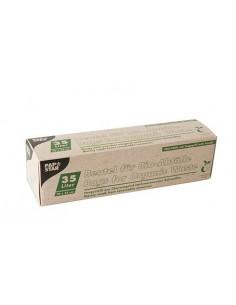 Bolsas de basura compostables color verde con asa 35 litros