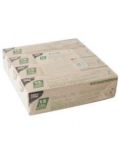 Bolsas de basura compostables color verde con asas 15 litros