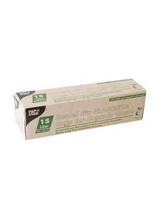 Bolsas de basura compostables color verde con asas 15 l