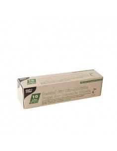 15 Bolsas de Basura Biodegradables con Asa PLA 42 x 50cm Color Verde