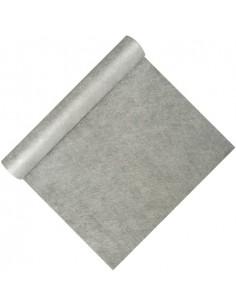 Camino de mesa papel plata aspecto tela resistente al agua Soft Selection 12 m x 40 cm