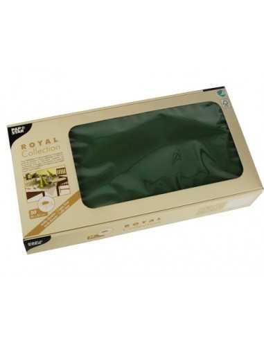 Manteles individuales de papel color verde oscuro Royal Collection 80 x 80 cm