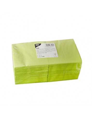 250 Servilletas Papel Color Verde Limón 24 x 24cm