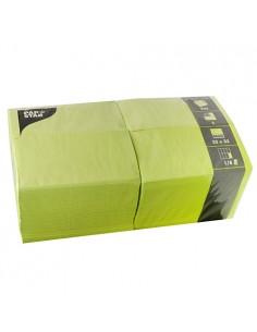Servilletas de papel hostelería color verde lima 33 x 33 cm