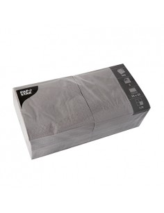 Servilletas de papel color gris 33 x 33 cm 3 capas