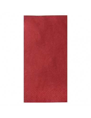 Servilletas papel burdeos hostelería Pliegue 1/8 40 x 40cm