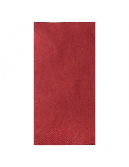 250 Servilletas Papel Tisú Color Rojo 40 x 40 cm 1/8