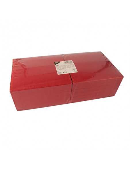 250 Servilletas Papel Tisú Color Burdeos 40 x 40 cm 1/8