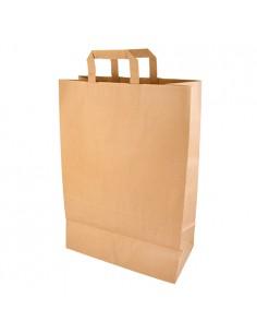 Bolsas papel kraft marrón con asas planas 44 x 32 x 17 cm