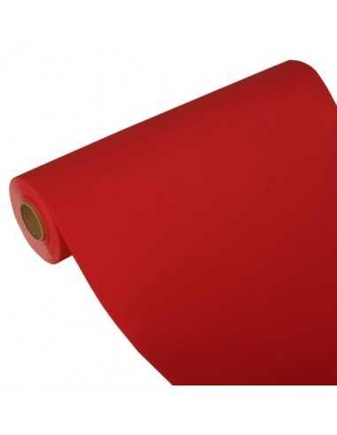 Camino de mesa papel aspecto tela Royal Collection rojo 24 m x 40 cm