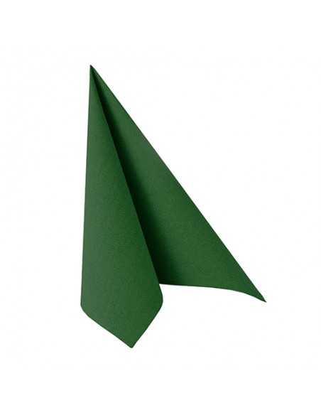 Servilletas de papel color verde oscuro 33 x 33 cm Royal Collection