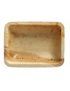 Bandeja rectangular hoja de palma Pure 16 x 12,2 cm