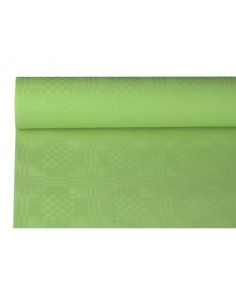 Rollo Mantel Papel Gofrado Damasco Color Verde 1,2 x 8 m