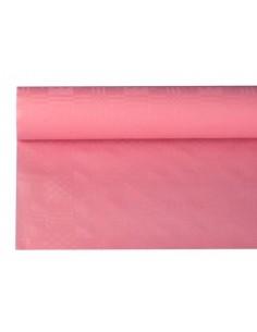 Rollo mantel papel gofrado damasco rosa claro 8 m x 1,2 m