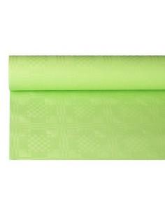 Rollo Mantel Papel Gofrado Damasco Color Verde Limón 1,2 x 8 m