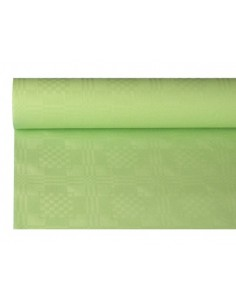 Rollo Mantel Papel Gofrado Damasco Color Verde Pastel 1,2 x 8 m