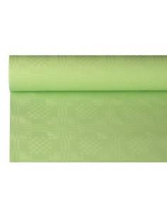 Rollo Mantel Papel Gofrado Damasco Color Verde Pastel 1,2 x 8 m