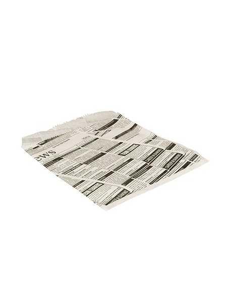300 Bolsas Papel Para Hamburguesas Pergamino Artificial 16 x 18 cm Newsprint Anti-grasa