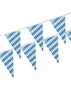 Banderines de plástico decoración impermeables Baviera Azul 10m