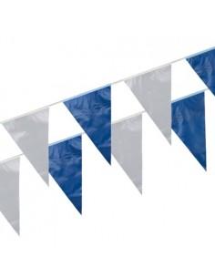 Banderines de Plástico 10 Metros Azul Blanco impermeable