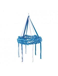 Guirnalda colgante decorativa papel Baviera Azul Ø 75 cm
