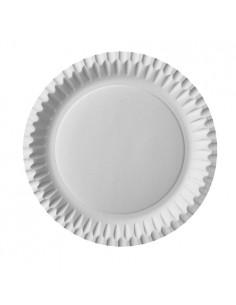 Platos de cartón blanco económicos redondos Ø 23 cm