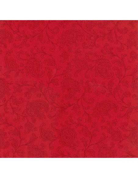 50 Servilletas Decoradas Royal Collection 48 x 48cm Color Rojo Ornaments
