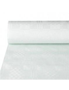 Rollo mantel papel blanco hostelería gofrado damasco 50 x 1m