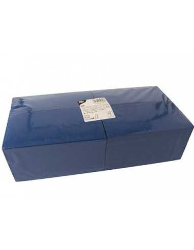 Servilletas papel azul hostelería Pliegue 1/8 40 x 40cm