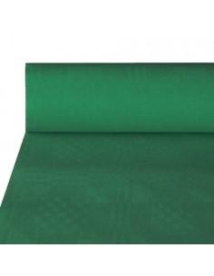 Rollo Mantel Papel Gofrado Damasco Verde Oscuro 50 m x 1m