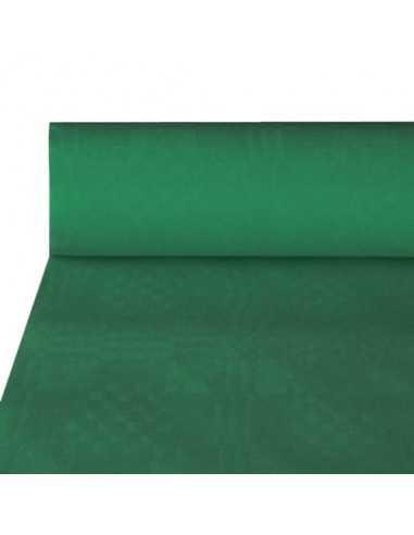 Rollo mantel papel verde hostelería gofrado damasco 50 x 1m