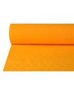 Rollo mantel papel naranja hostelería gofrado damasco 50 x 1m