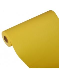 Camino de mesa papel aspecto tela Royal Collection amarillo 24 m x 40 cm